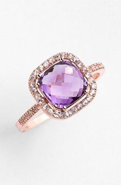 ℒᎧᏤᏋ this purple diamond & rose gold band ring!!!! ღ❤ღ