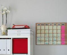 DIY dry erase board perpetual monthly planner « Celestefrittata
