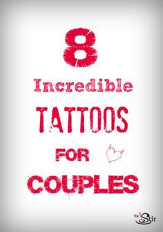 I can't decide which of these couples tattoos is my favorite. Maybe number 6? http://thestir.cafemom.com/love_sex/163260/8_best_tattoos_that_show?utm_medium=sm&utm_source=pinterest&utm_content=thestir