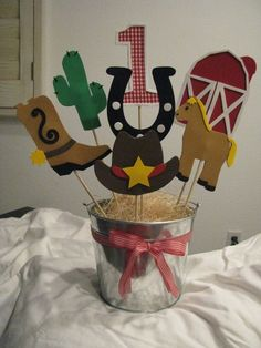 Western Theme Centerpiece by jollylollycreations on Etsy, $36.00