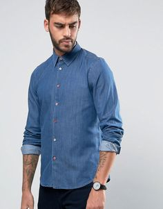 Get this Ps By Paul Smith's denim shirt now! Click for more details. Worldwide shipping. PS by Paul Smith Denim Shirt Tailored Slim Fit in Mid Wash - Blue: Shirt by PS By Paul Smith, Non-stretch denim, Mid wash, Point collar, Button placket, Slim fit - cut close to the body, Machine wash, 100% Cotton, Our model wears a size Medium and is 6'2�/188 cm tall. Designed in the UK, PS by Paul Smith bears all the hallmarks of Sir Paul Smith�s individual and quintessentially British style. Signatu...