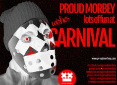Dear carnivalees, we guess you are out and about! It doesn't matter if you're in Cologne, Mainz, Venice, or Rio de Janeiro parties are on to the break of dawn. Of course, we were on the run with lots of fun and our creepy Proud Morbey horror mask a la Jason Voorhees (Friday the 13th). Aaaaaaaah!!! Have a nice Rose Monday and a wonderful hangover ;-)