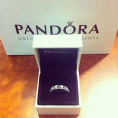 My boyfriend andrew got me a new pandora 'promise' ring since my other one was dirty!  #ring #pandora
