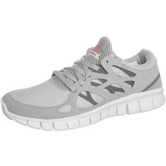 Nike Sportswear FREE RUN+ 2 Trainers ($79) ❤ liked on Polyvore featuring shoes, grey, nike footwear, synthetic shoes, nike shoes, grey shoes and round cap