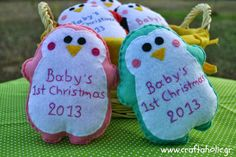 Felt Christmas ornament by Craftaholic
