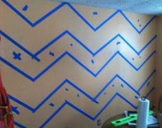 Walls : DIY Chevron  Stripe Wall