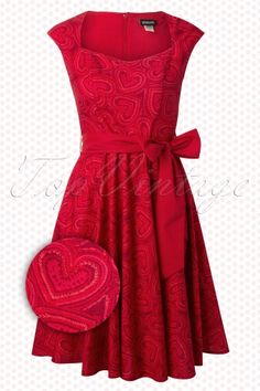 2x retrolicious heart dress. NWT includes belt. Great for Valentine's Day. $40
