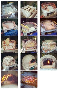 Steps of building a brick oven - Pizzaofen - Wood Oven, Wood Fired Oven, Wood Fired Pizza, Wood Burning Oven, Pizza Oven Outdoor, Outdoor Cooking, Brick Oven Outdoor, Oven Diy, Bread Oven