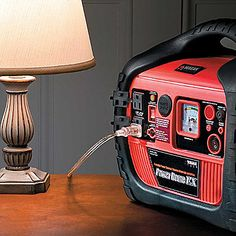 This portable 400-watt power source features an 18 amp-hour battery plus AC, DC, and USB outlets so you can keep your favorite electronic devices running anywhere, even during blackout situations. Use the Power Dome EX to jump start your car's battery, inflate tires or air beds, charge mobile devices or digital cameras, and shine a bright 5-LED light where needed.