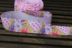 Barbie grosgrain ribbon for cake decoratingmaking by scratchycat, £0.55