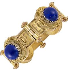 Archaeological Revival Gold and Lapis, circa 1870