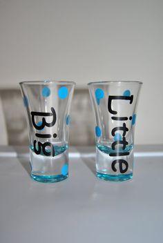 Little & Big Shot Glass SET made to order by AnnaCarolinesCrafts, $16.00