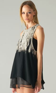 #asymmetrical #tiedye #tank #top #publik #shoppublik www.shoppublik.com
