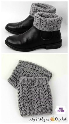 boot cuffs Looking for some crochet house slippers for your family, you will love to check out Crochet Women Slippers Shoe Patterns Round Up. Boots are a must-have for most of every women, Crochet Boot Socks, Crochet Boot Cuff Pattern, Crochet Leg Warmers, Knit Boots, Shoe Pattern, Crochet Slippers, Crochet Lace, Crochet Patterns, Free Crochet