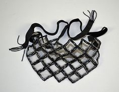 BEAD EMBROIDERY BLACK VEIL MASK - Black beaded and - by Dargate Auction Galleries