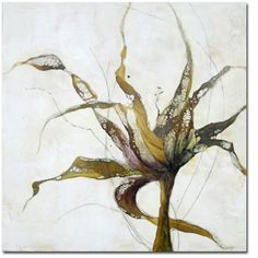 "Alicia Tormey _ Botanical I,   2010 _   encaustic with mixed media  24"" x 24"""