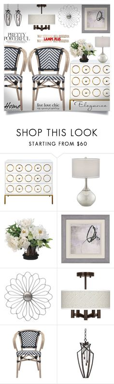 """Lamps plus  59"" by mell-2405 ❤ liked on Polyvore featuring interior, interiors, interior design, home, home decor, interior decorating, Possini Euro Design, Noble Park, Giclee Glow and Zuo"