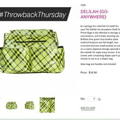 TBT- Delilah (Go Anywhere) prima shell at such a great savings.  Order at https:// sandrasgotmy.miche.com