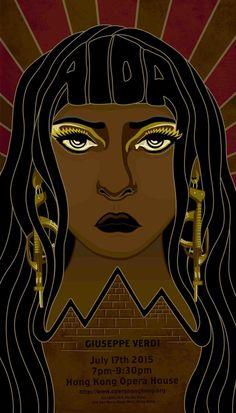 AIDA Opera Poster by Lindsay Bongo, via Behance #Aida #Verdi #Opera