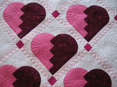 http://pinterest.com/feba2/a-quilts-2/    Broken Heart Quilt    The full Broken Heart quilt from the book 25 Years and still Stripping by Eleanor Burns.