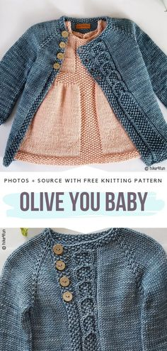 You Baby Free Knitting Pattern Simple cardigan with cable front panel will., Olive You Baby Free Knitting Pattern Simple cardigan with cable front panel will., Olive You Baby Free Knitting Pattern Simple cardigan with cable front panel will. Toddler Cardigan, Knitted Baby Cardigan, Baby Pullover, Cable Cardigan, Cardigans Crochet, Knit Cardigan Pattern, Knit Baby Sweaters, Girls Sweaters, Free Crochet