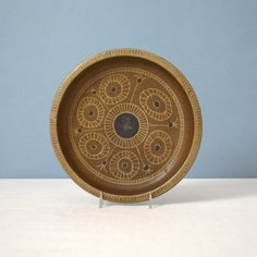 Vintage Studio Art Pottery Decorated Low Bowl