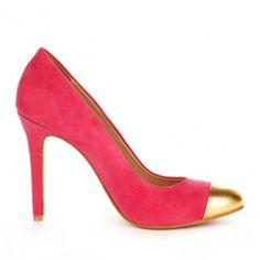 Tierra cap toe pump - Cabaret Gold