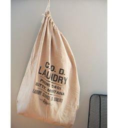 vintage canvas laundry bag