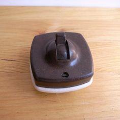 Vintage British made Bakelite & Ceramic Tumbler Switch / アンティーク ベークライト&陶器 タンブラスイッチ イギリス #Switch