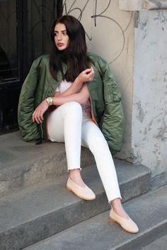 Just jeans & MA-1 jacket