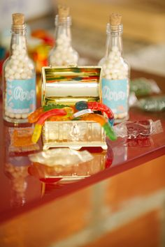Pearls in the bottles and a hidden treasure. Under the sea birthday party - Ana turned 1!