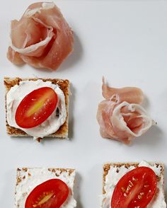 Make a romantic appetizer with grilled bread, cheese, and tomato paired with a prosciutto rose . Inspired by the movie Burnt in theaters October 30th!