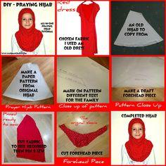 diy praying hijab sewing tutorial - islamic