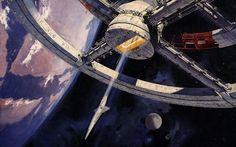 Art by Robert McCall for the movie 2001: A Space Odyssey
