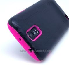 Click Image to Browse: $9.95 V2 Baby Pink Double Layer Hard Case Gel Cover For Samsung Galaxy S2 (Hercules T989) T-Mobile