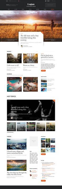 Media, web, magazine, photo, colors, dark, bright, typographic, theme