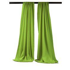 LA Linen Solid Sheer Rod pocket Single Curtain Panel Color: