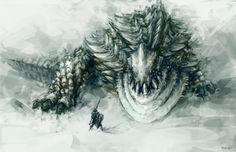 Ukanlos Monster Hunter Series, Monster Hunter Art, Fantasy Creatures, Mythical Creatures, Monster Hunter World Wallpaper, Dragons, Beast Creature, Monster Drawing, Darkest Dungeon