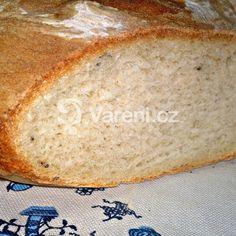 Bílý bramborový kmínový chléb mojí babičky recept - Vareni.cz Bread, Food, Brot, Essen, Baking, Meals, Breads, Buns, Yemek