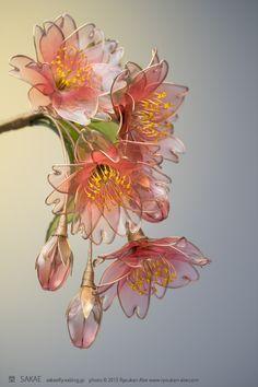 Japanese hair accessory Kanzashi by Sakae