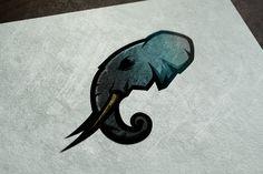 Elephant logo for Kryptid on Behance Web Design, Logo Design, Graphic Design, Elephant Logo, Branding, Personal Logo, Sports Logos, Logo Ideas, Logo Inspiration