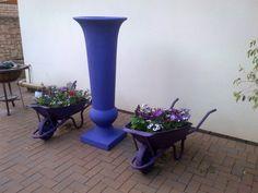 www.designergardenlandscaping.co.za Paving Edging, Garden Paving, Herb Garden, Garden Landscaping, Wheelbarrow Planter, Planter Pots, Rock Pools, Garden Buildings, One Color