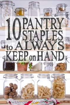 10 Essential Pantry Staples to Keep on Hand How to Stock Your Pantry is part of Pantry list - A wellstocked pantry can be a lifesaver! If you're not sure what you need to stock up on, don't miss this list of 10 pantry staples to always keep on hand! Pantry Staples List, Pantry List, Pantry Essentials, Pantry Ideas, Food Staples, Filipino, Kitchen Pantry, Kitchen Tips, Kitchen Living
