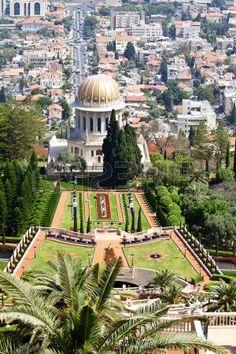 View of Haifa, Bahai Gardens and Shrine of the Bab, Israel. Stock Photo - 14962841