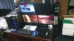 New 4 monitor set up