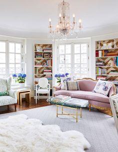 a fresh feminine open living space with european style | via coco kelley