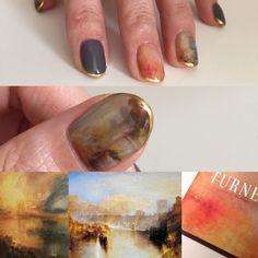 TURNER の美しすぎる絵画を… my nails #turner #ターナー #ターナー展 #油画 #絵画 #art #nail #nailart #nails #ネイル #ネイルアート #油絵ネイル #kanazawa #金沢 #金沢ネイルサロン #toyama #手描きアート #手描きネイル #ジェルネイル #gelnail #ショートネイル #カジュアルネイル