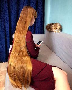 At home. This cat  has an Instagram page too @baronthebigcat . . . #follow #me #girl #cat #likeforlike #follow4follow #followforfollow #hair #longhair #hairlover #myhair #beautifulhair #sexyhair #prettyhair #beautyhair #russiangirl #longhairdontcare #straighthair #instahair #rapunzel #hairgoals #hairoftheday #longblondehair #verylonghair #gorgeous #longhairmodel #superlonghair #teamlonghair #mylonghair #strawberryblonde
