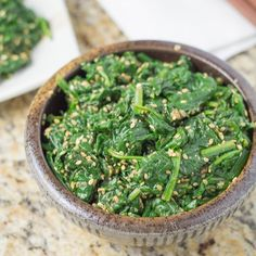 GOMAE-Japanese style spinach salad that is dressed with a sesame dressing. It's a healthy vegetarian recipe that is easy to make and eat. Vegetarian Recipes, Cooking Recipes, Healthy Recipes, Rice Recipes, Healthy Cooking, Seafood Recipes, Healthy Meals, Keto Recipes, Healthy Food