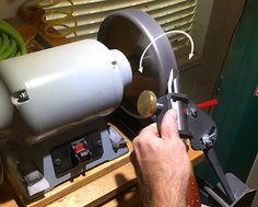 Bowl Gouge Sharpening Techniques Left Side Rotation